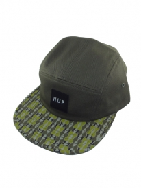 HUF Century Pattern Volley 5-Panel Cap (olive)