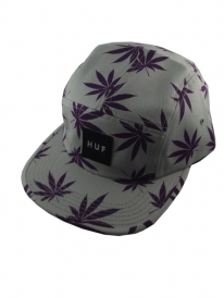 HUF Plantlife Volley 5-Panel Cap (heather grey)