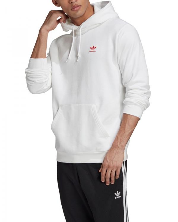 Adidas Essential Hoodie (white/scarlet)