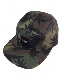 HUF Plantlife Volley 5-Panel Cap (woodland camo)