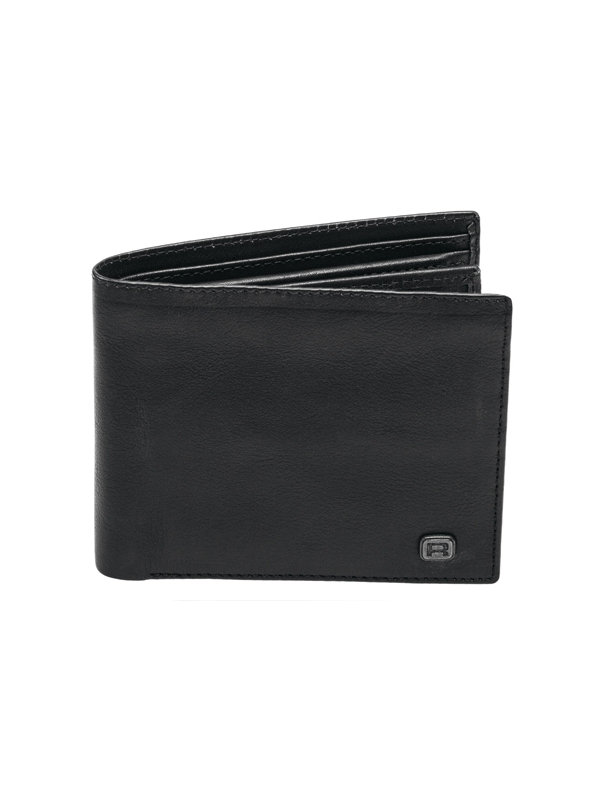 Reell Button Leather Wallet (black)