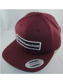 Schichtwechsel Logo Snapback Cap (bordeaux)