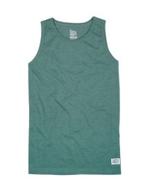 Cleptomanicx Patch Tank Top (heather olive green)