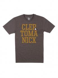 Cleptomanicx Typo Icon T-Shirt (heather dark brown)