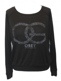 Obey OG Cheetah Sweater (graphite)