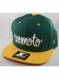 Wemoto Script Starter Cap (bottle green/yellow)