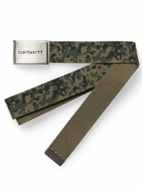 Carhartt WIP Clip Chrome Gürtel (camo stain green)