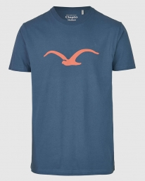 Cleptomanicx Möwe T-Shirt (blue wing)