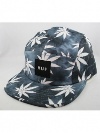 HUF Plantlife Tie Dye Volley 5-Panel Cap (black)