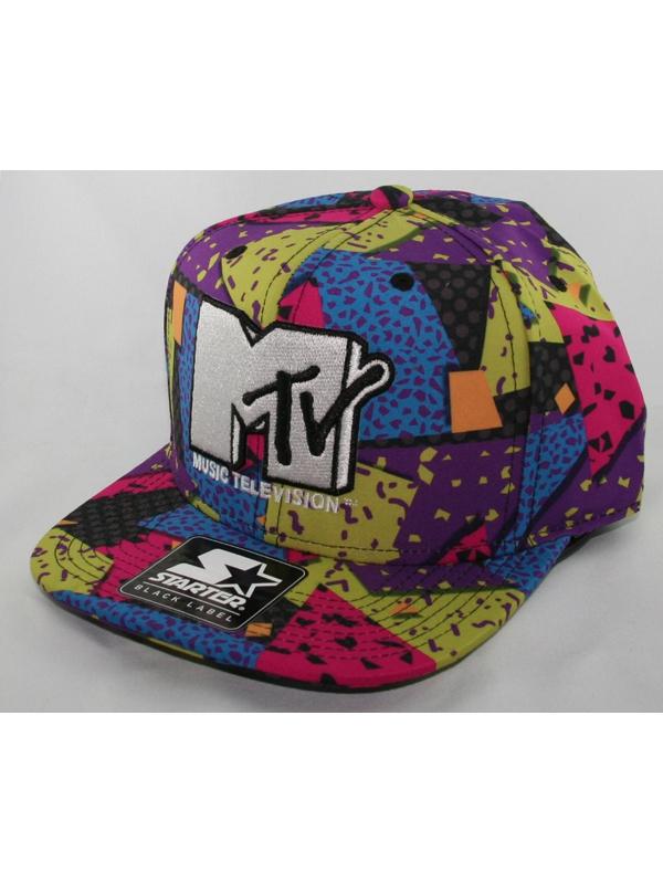 Starter MTV Fro Back Cap (multi/white)