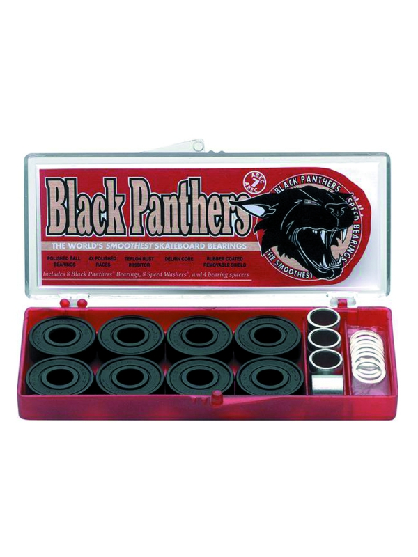 Shortys Black Panthers Kugellager ABEC7 inkl. Spacer