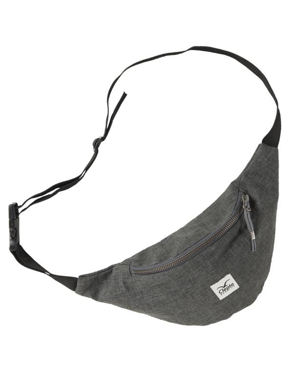 Cleptomanicx Hemp Hipbag (heather dark gray)