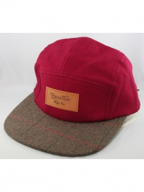 Brixton Cavern 5-Panel Cap (burgundy)