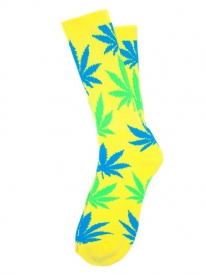 HUF Plantlife Neon Socken (yellow)
