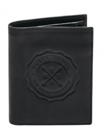 Reell Logo Leather Wallet (black)