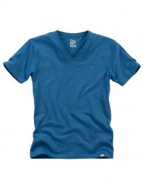 Cleptomanicx Ligull V-Neck T-Shirt (petrol blue)