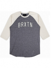 Brixton Hamilton Longsleeve (heather grey/cream)