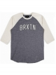 Brixton Hamilton Longsleeve (heather grey/cream)