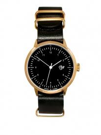 Cheapo Harold Mini Gold Uhr (black dial/blackleather strap)