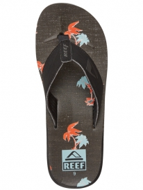 Reef HT Prints Flipflops (blue and red palm)