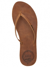 Reef Leather Uptown Flipflops (brown/coral)