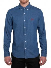 Huf Script Jeans Hemd (denim)