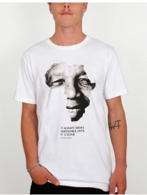 Dedicated Mandela Fairtrade Organic T-Shirt (white)