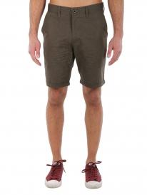 Iriedaily Golfer Chambray Short (dark olive)