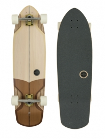 "Globe Stubby V-Ply Cruiser 36.75"" Komplett Longboard (off white/brown)"