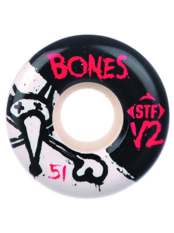 Bones Wheels STF V2 Series 2 Rollen white 83B (versch. Größen) 4er Satz