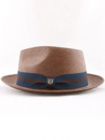 Brixton Baxter Hat (brown/navy)