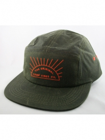 Poler Waxed Camper 5-Panel Cap (fern)