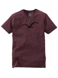Cleptomanicx Pastell Möwe T-Shirt (heather tawny port)
