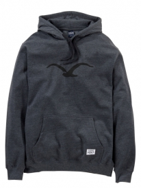 Cleptomanicx Möwe Hoodie (heather black)