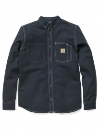 Carhartt WIP Tony Hemd (dark navy rigid)