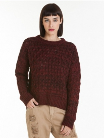 Obey Aberdeen Strick Sweater (burgundy)