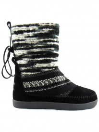 Toms Nepal Boot (black suede textile)