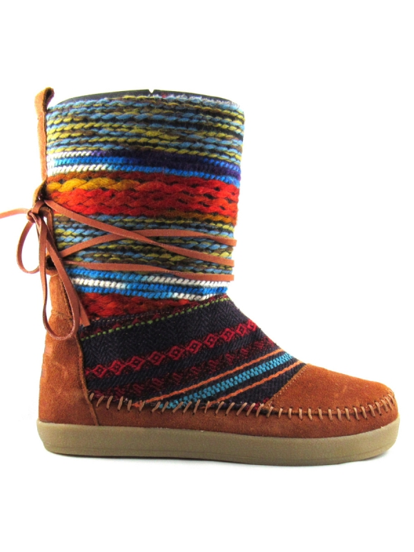 Toms Nepal Boot (cognac suede textile)
