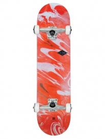 Globe Full On Skateboard Komplettbrett 7.75 Inch (red marble)
