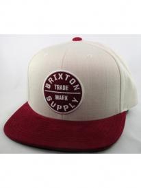 Brixton Oath 3 Cap (cream/burgundy)
