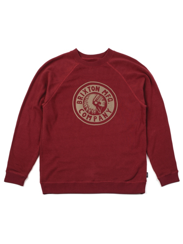 Brixton Rival Sweater (burgundy/gold)
