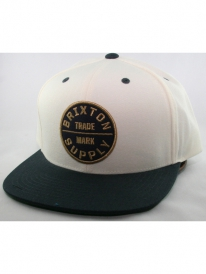 Brixton Oath 3 Cap (off white/navy)