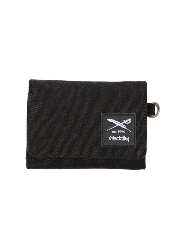 Iriedaily Canvas Trifold Wallet (black melange)