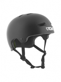 TSG Evolution Helm Solid Colors satin black (verschied. Größen)