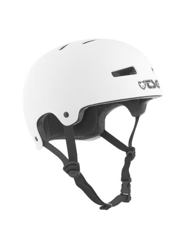 TSG Evolution Helm Solid Colors satin white (verschied. Größen)
