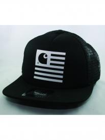 Carhartt State Trucker Cap (black/white)