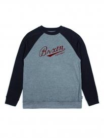 Brixton Fenway Sweater (heather grey/black)