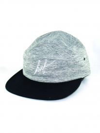 Huf Heathered Pique Volley 5-Panel Cap (black)