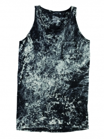 Cleptomanicx Marble Tank Top (black)