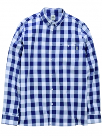 Cleptomanicx Classic Check Hemd (dark navy)